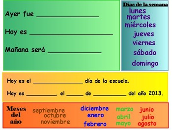 Morning Meeting in Spanish (primary grades)