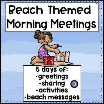 Morning Meetings Beach Themed