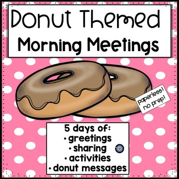 Morning Meetings Donut Week