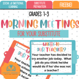 Morning Meetings For Your Substitute