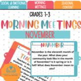 November Morning Meetings