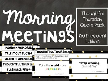 Kid President Slides - Quote of the Day - Morning Meetings