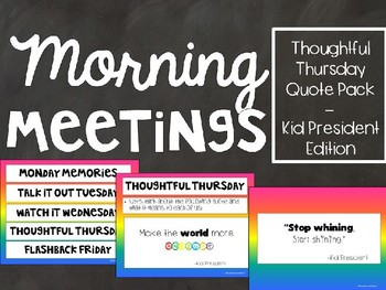 Kid President Slides - Quote of the Day - Morning Meetings - Rainbow