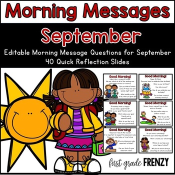 Morning Messages : September