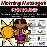 Morning Messages : September