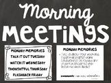 Morning Meetings Slides - Simple