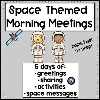 Morning Meetings Space Week