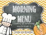 Morning Work: Oct. and Nov. 2nd Grade