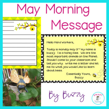 Morning Message - Bee Theme Work for Traditional and Digit
