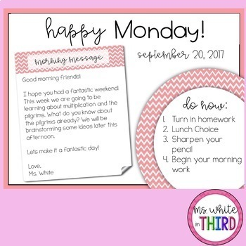 Morning Message (50 editable slides)