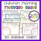Morning Message (50 editable slides)