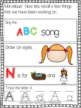 Morning Message ABC Time Freebie
