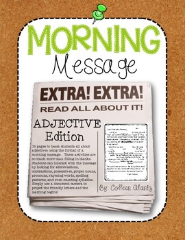 Morning Message: Adjective Edition
