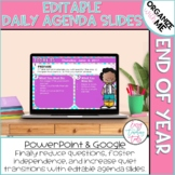 Morning Message Assignment Slides (End of the Year and Editable)
