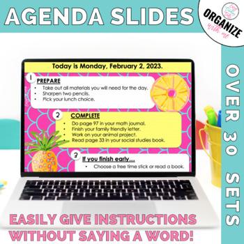 Morning Message Assignment Slides MEGA Year Long Bundle (Editable)