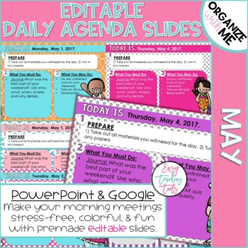 Morning Message Assignment Slides (May and Editable)