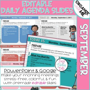 Morning Message Assignment Slides for Back to School (September)