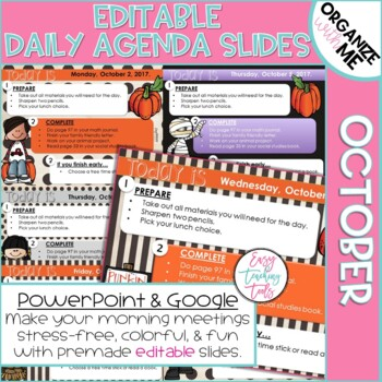 Morning Message Assignment Slides for Back to School (October)