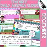 Morning Message Assignment Slides for December
