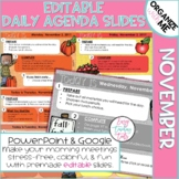 Morning Message Assignment Slides for November