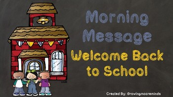 Morning Message Back to School Powerpoint Melonheadz