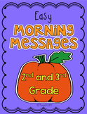 October Morning Message 2nd 3rd