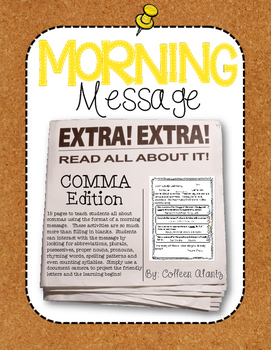 Morning Message: Comma Edition