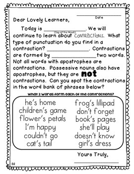 Morning Message: Contraction Edition