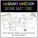 Morning Message Daily Slides w/ Space For Your Own Avatar
