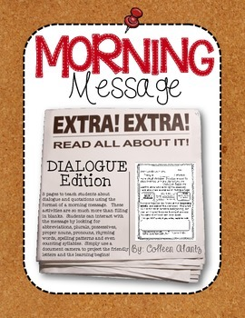 Morning Message: Dialogue Edition