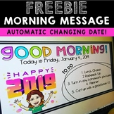 Morning Message Editable Slide