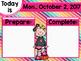 Morning Message Editable Slides - October