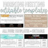 Morning Message Editable Templates