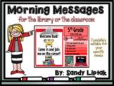 Morning Message Editable Templates (Rainbow Colors)