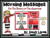 Morning Message Editable Templates (Rainbow Colors)