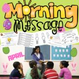 Morning Message. First Grade. April