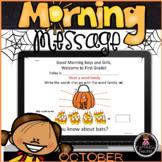 Morning Message. First Grade. October