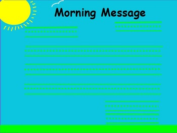 Morning Message Flipchart