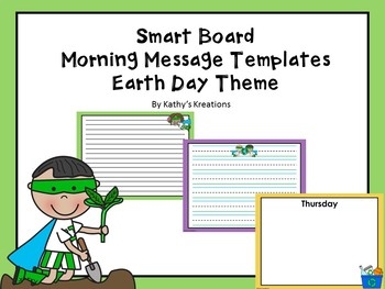 Morning Message For SMART Board Earth Day