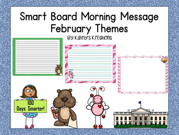 Morning Message For Smart Board -February