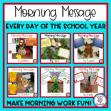 Morning Message All Year - Bundle for Traditional and Digital Classrooms!