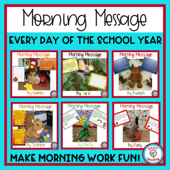 Morning Message All Year - Morning Work for Traditional an