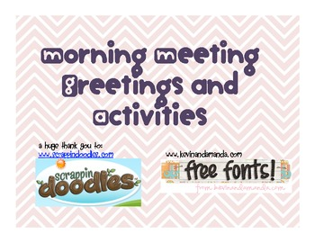 Morning Message Greetings and Activities