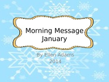 Morning Message-January