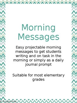 Morning Message & Journal Prompts