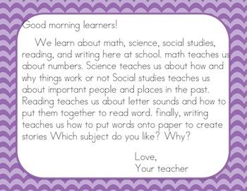 Morning Message K-2