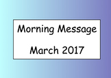 Morning Message (March)