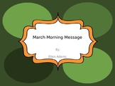 Morning Message-March