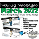 Morning Message March Bell Ringers