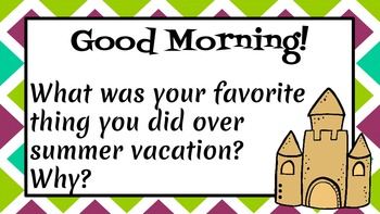 Morning Message, Morning Question, & Morning Meeting Template {Editable}